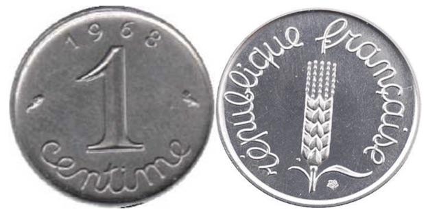 1 Centime Epi 1960 A 2001 Valeur Et Cotations Des Pieces De Monnaies