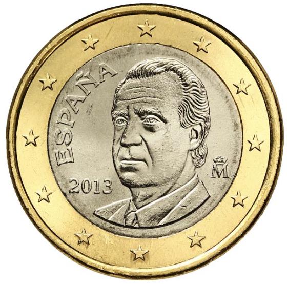 1 euro de l 39 espagne valeur et cotation des euros de collection. Black Bedroom Furniture Sets. Home Design Ideas