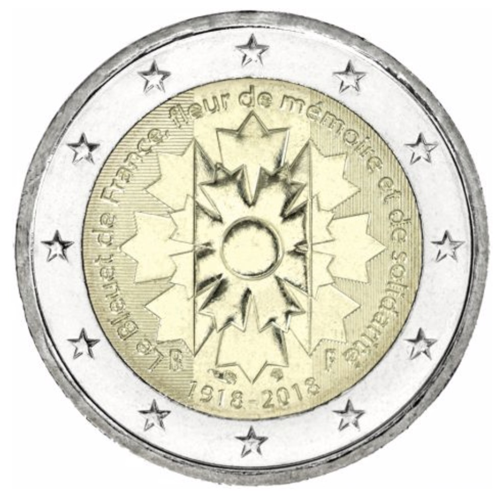 2 euro commemorative 2018 de la France