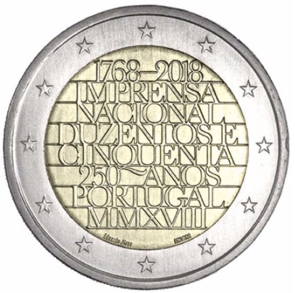 2 euro commemorative 2018 du Portugal
