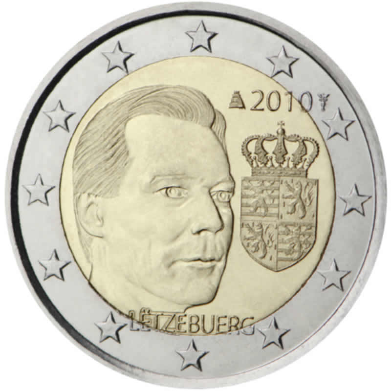 2 euro commémorative 2010 Luxembourg