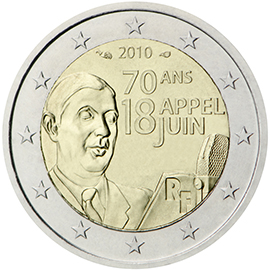 2 euro commémorative 2010 France