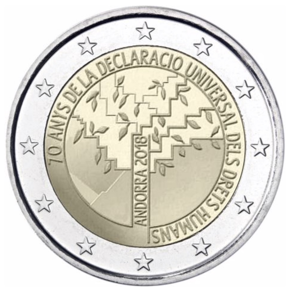 2 euro commemorative 2018 - Andorre
