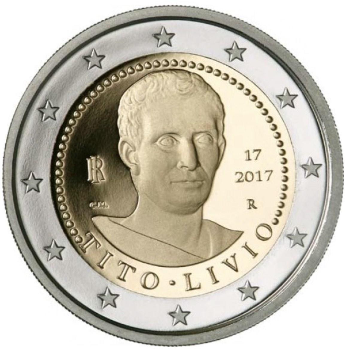 italie 2 euro comm morative 2017 valeur des pi ces de 2 euro. Black Bedroom Furniture Sets. Home Design Ideas