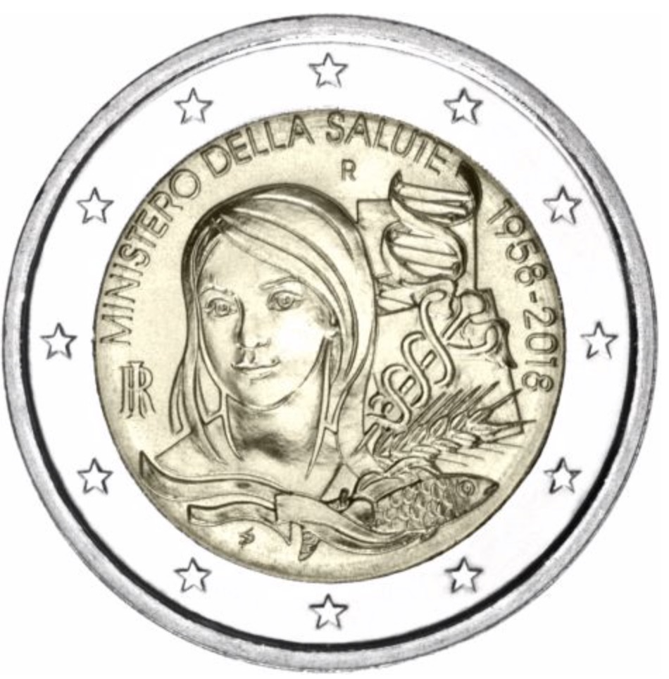 2 euro commemorative 2018 de l' Italie