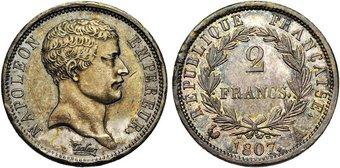 2 francs napol on empereur 1807 pi ce en argent - Nettoyer piece argent ...