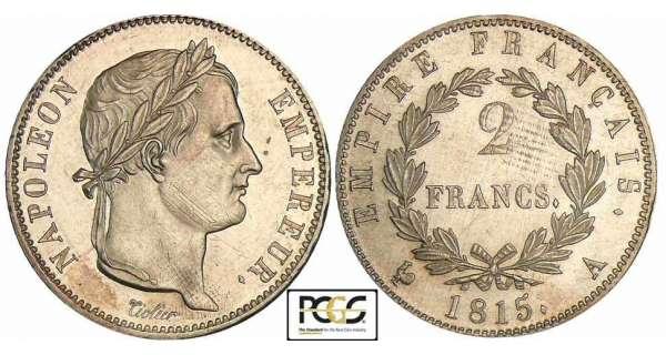 2 francs 1815 napol on empereur empire fran ais pi ce en argent. Black Bedroom Furniture Sets. Home Design Ideas