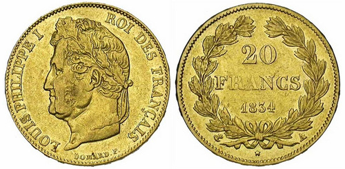 20 francs or Louis Philippe I