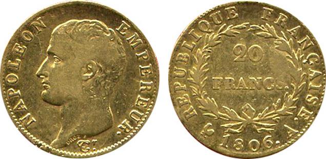20 francs or - Valeur et cotations des pièces en or de 20 francs