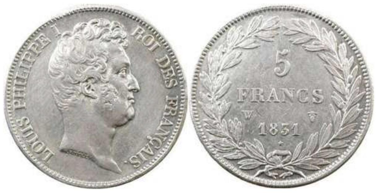 5 francs louis philippe i 1830 et 1831 pi ce en argent - Nettoyer piece argent ...