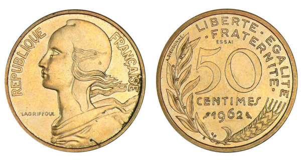 50 Centimes Marianne 1962 A 1964 Argus Des Francs