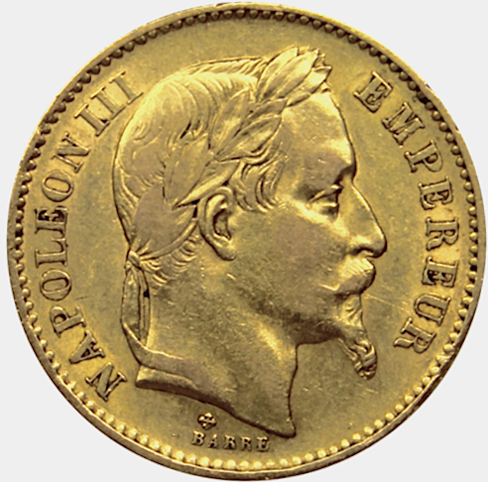 5 francs or napoléon III