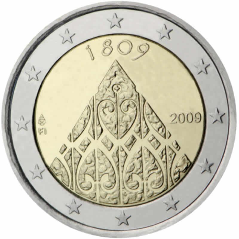 finlande 2 euro comm morative 2009 valeur des pi ces de 2 euro. Black Bedroom Furniture Sets. Home Design Ideas