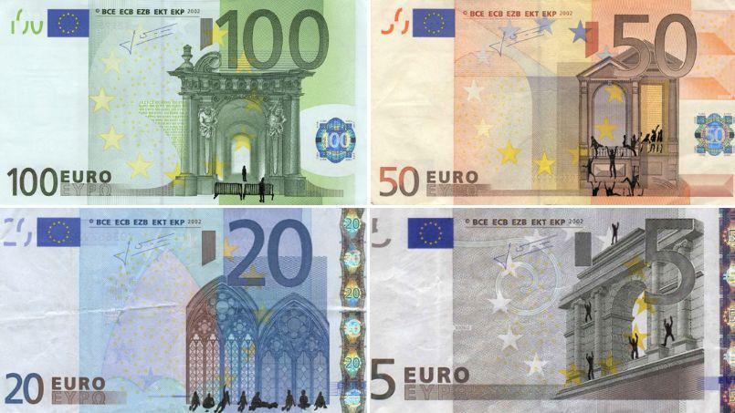 billet de banque euros a imprimer