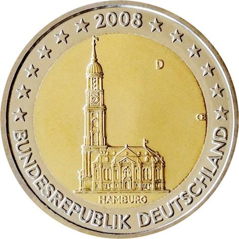 2 Euro Commemoratives 2008 Cotations Et Valeur Piece De 2 Euro 2008