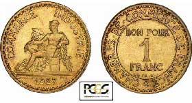 1 franc an xi 2001 valeur et cotations des pi ces de 1 for Bon pour 1 franc chambre de commerce