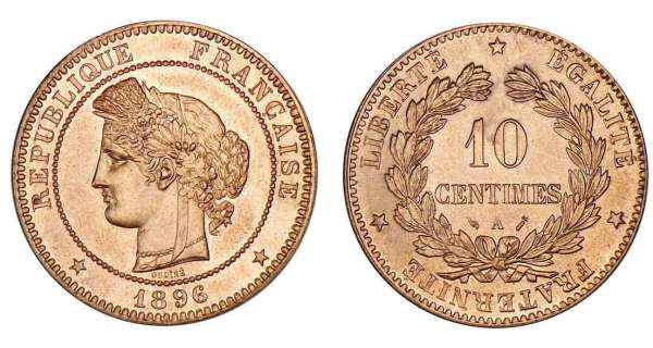 10 centimes c r s 1870 1898 cotations des pi ces ancien franc. Black Bedroom Furniture Sets. Home Design Ideas