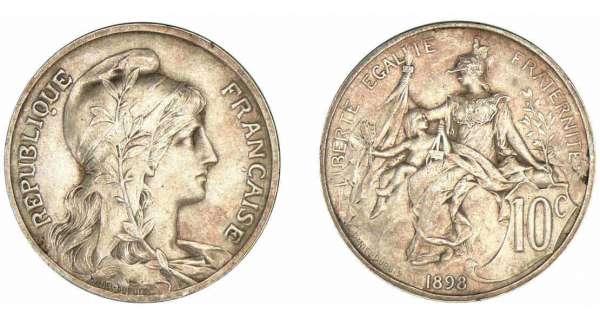 FRANCE FRANCIA 10 centimes DUPUIS 1904 ca