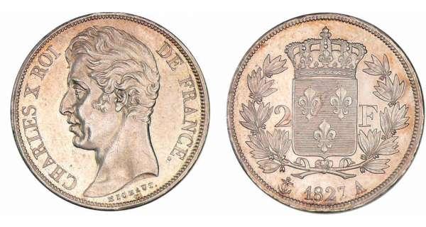 2 francs charles x 1825 1830 pi ce en argent - Nettoyer piece argent ...