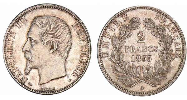 2 francs napol on iii 1853 1859 pi ce en argent - Nettoyer piece argent ...