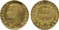 20 francs or Napoléon Ier 1806