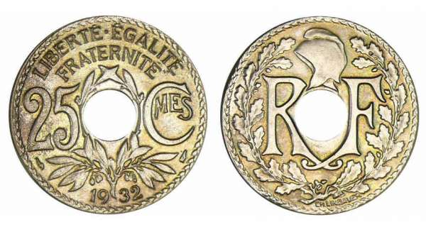 FRANCE  25 centimes  LINDAUER  1931 etat