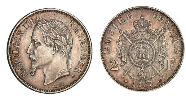2 francs napol on iii 1866 1870 pi ce en argent - Nettoyer piece argent ...