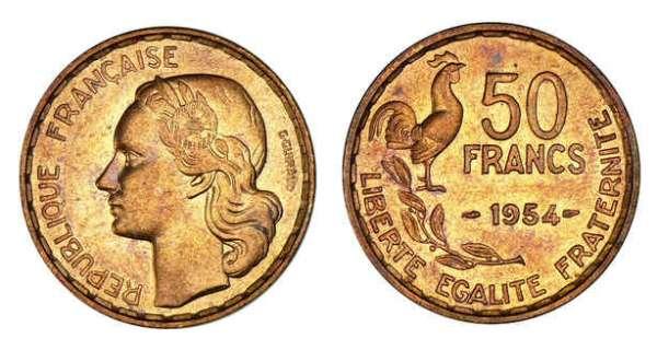 50 francs 1950 à 1980 - Valeur des pièces de 50 francs argent 52d69e7c5718