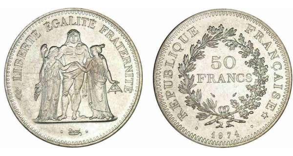 50 francs Hercule - Valeur et cotations des pièces de monnaies de ... 551d75a196df