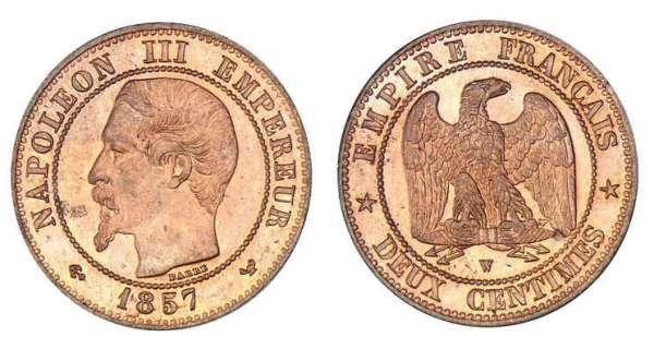 2 centimes de franc 1853 1961 valeur des pi ces de 2 centimes - Valeur ancienne piece ...