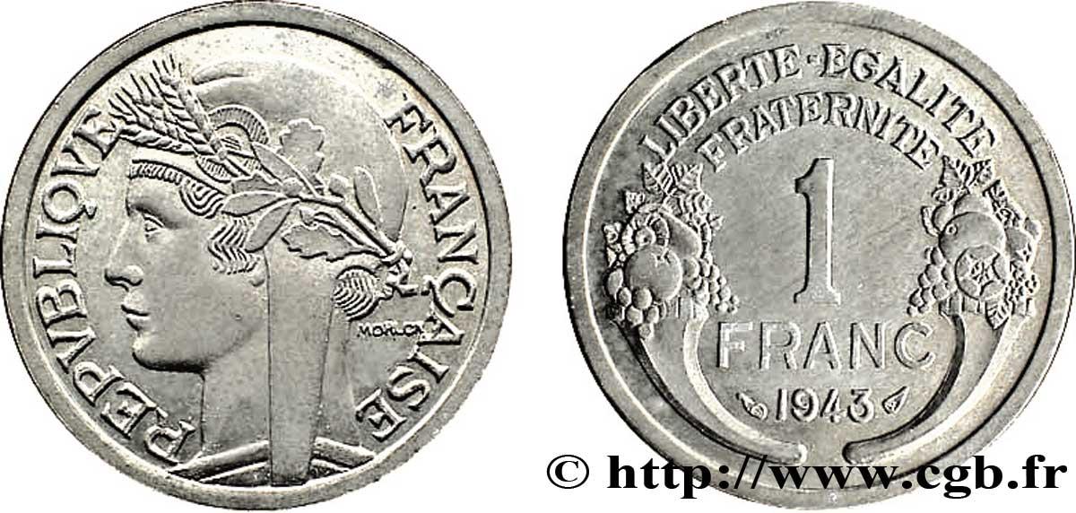 1 franc graziani 1943 argus des pi ces de 1 franc. Black Bedroom Furniture Sets. Home Design Ideas
