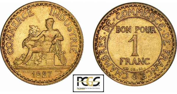 bon pour 1 franc chambre de commerce 1920 1927