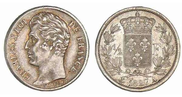 Demi franc charles x 1825 1830 pi ce en argent - Nettoyer piece argent ...