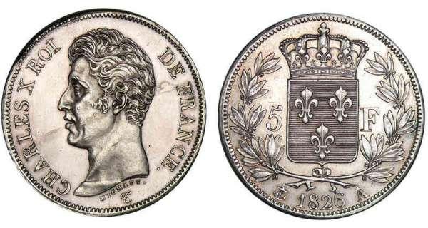 5 francs charles x 1824 1826 pi ce en argent - Nettoyer piece argent ...