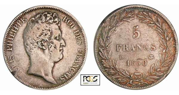 5 francs louis philippe 1830 pi ce en argent - Nettoyer piece argent ...