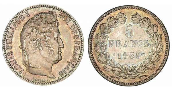 5 francs louis philippe i 1831 pi ce en argent - Nettoyer piece argent ...
