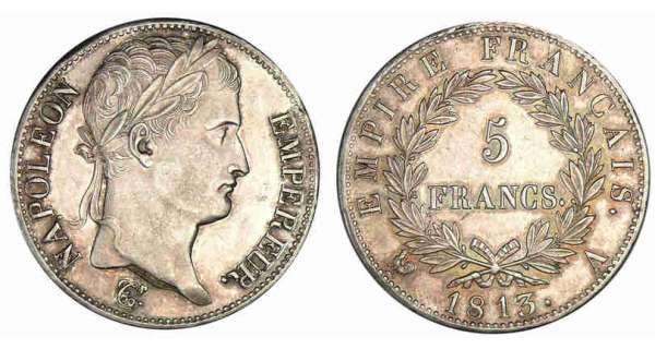 5 francs napol on empereur 1809 1815 pi ce en argent. Black Bedroom Furniture Sets. Home Design Ideas