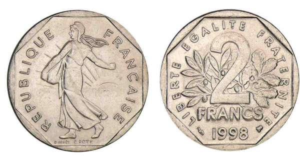 piece de monnaie 2 francs 1980